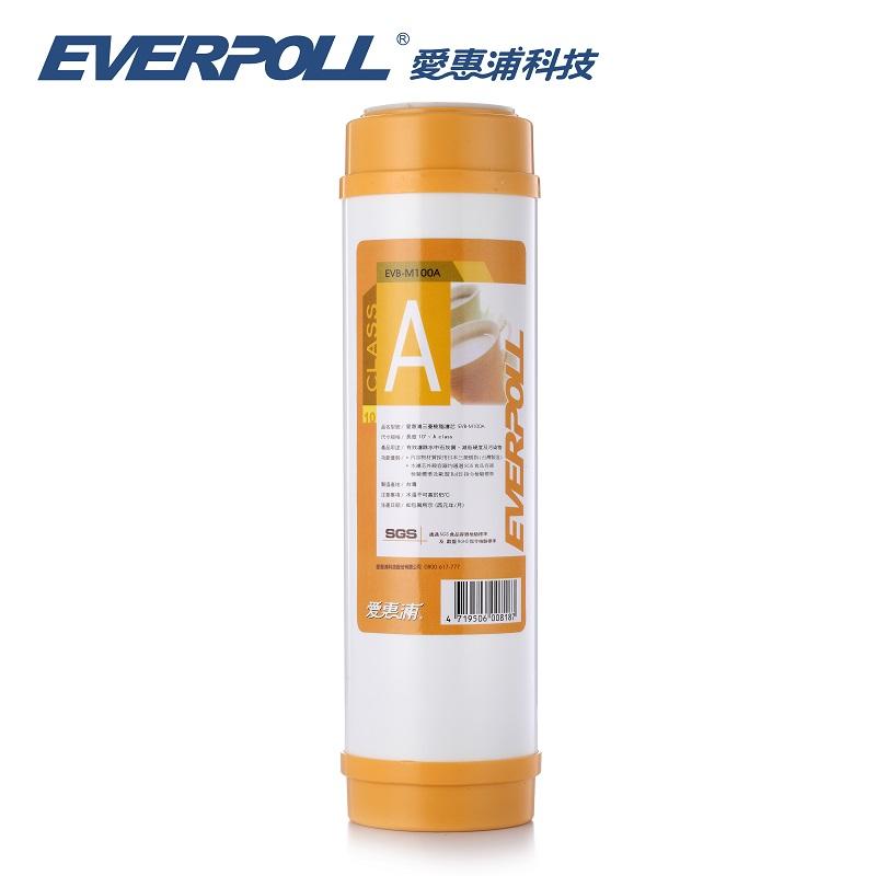 EVB-M100A/EVBM100A台灣愛惠浦公司貨EVERPOLL一般標準型樹脂濾心