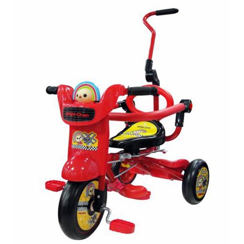 【奇買親子購物網】OPEN!魔法摺疊腳踏車(紅色)