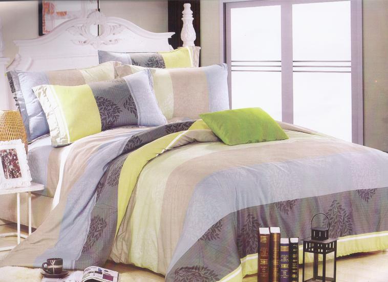 ?臺灣製?舒柔棉磨毛超細纖維床包組《HW-0010》5X6.2尺雙人床包組+兩用被 四件組◤彩虹森林◥
