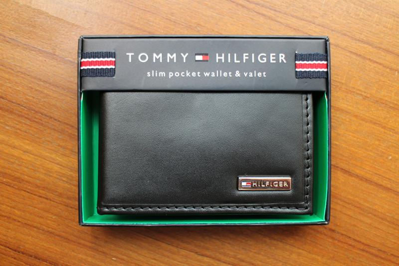 美國空運 Tommy Hilfiger 真皮 短夾/皮夾/錢包 附皮製盒蓋包裝
