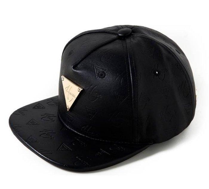 ?法西歐 桃園? HATer Snapback 頂級鋼印皮革黑LOGO壓紋棒球帽 黑色 韓國團體Wassup Girl 朴真珠著用