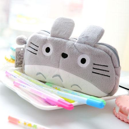 龍貓圓形筆袋 收納包 萬用包 化妝包 造型包 豆豆龍 Totoro 宮崎駿 吉卜力 日本【B060682】