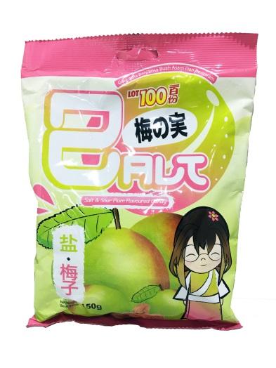 【新品上市】一百份 鹽味梅子水果糖─150g
