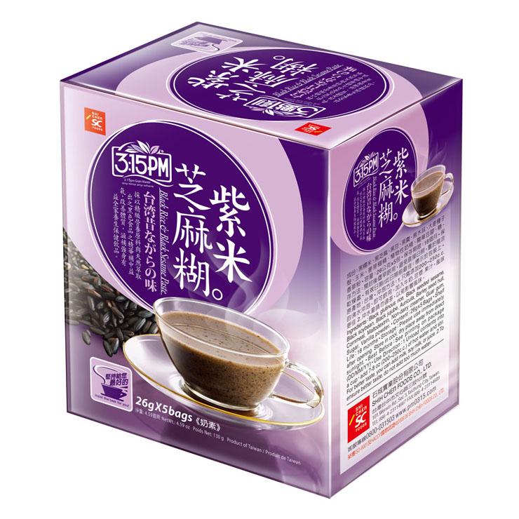【3點1刻 紫米芝麻糊(5包/盒)】精選對人體有益的黑五類,含豐富食物纖維、零膽固醇,早餐的好朋友!