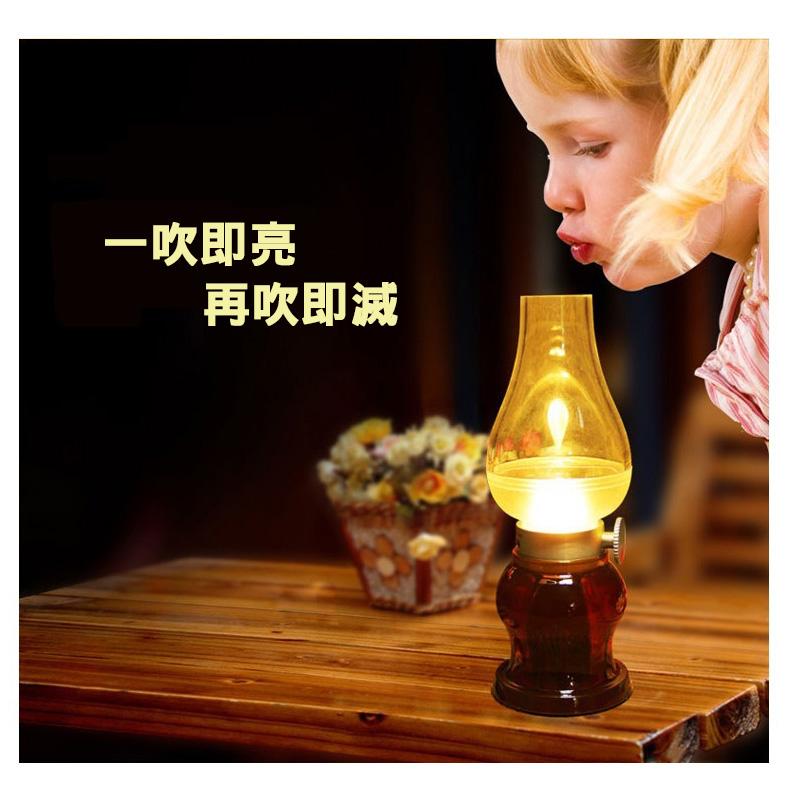 復古LED燈 夜燈 露營燈 仿煤油燈 哺乳燈 樓梯燈 書房燈