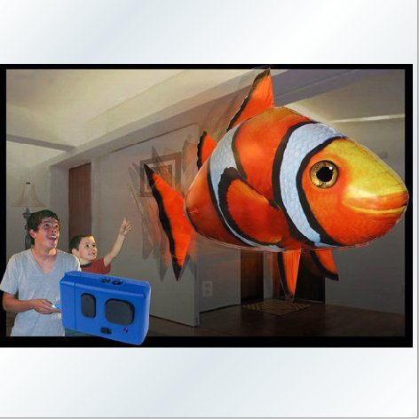 =優生活=遙控飛魚 充氣空中鯊魚小丑魚尼龍膜 充氣氦氣玩具 場景佈置 婚宴佈置 派對佈置