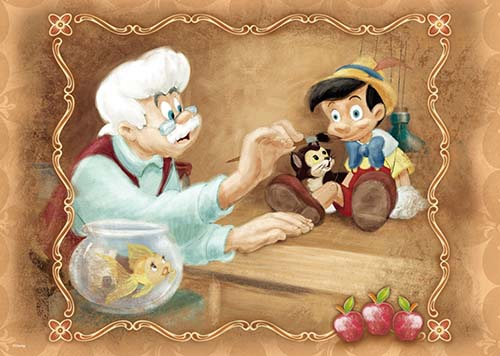 【P2 拼圖】Pinocchio 小木偶的誕生拼圖520片 HPD0520-029