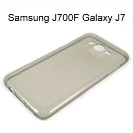 超薄透明軟殼 [透灰] Samsung J700F Galaxy J7