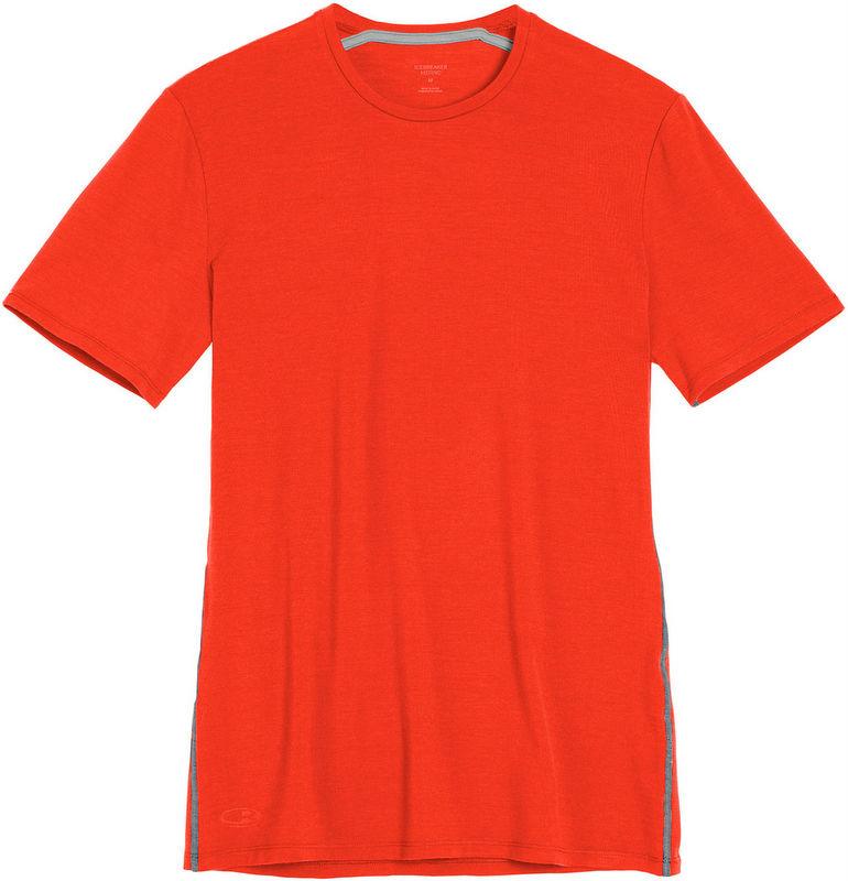 Icebreaker 排汗衣/短袖T恤/美麗諾羊毛 Anatomica BF150男款 103033-801 熾火橘