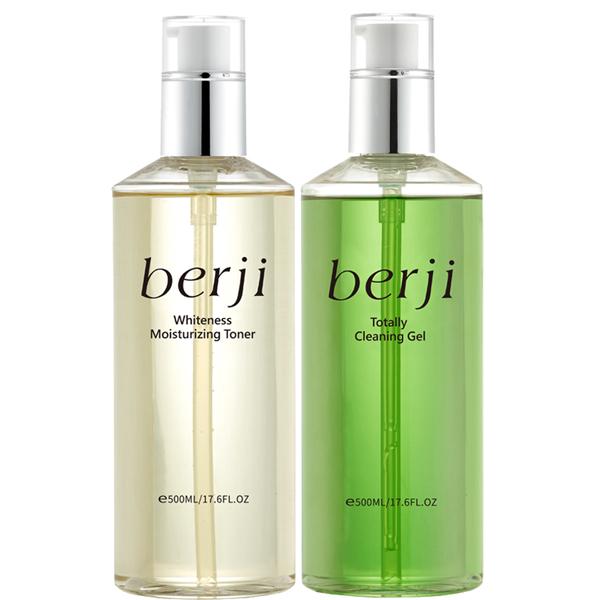《berji》雙效靚白潔顏蜜500ml+嫩白水漾化妝水500ml