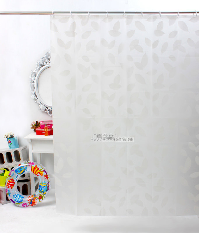 《喨晶晶生活工坊》日本訂單~PEVA浴簾 1F009-1 135*180 乾溼分離˙防水簾˙隔間簾