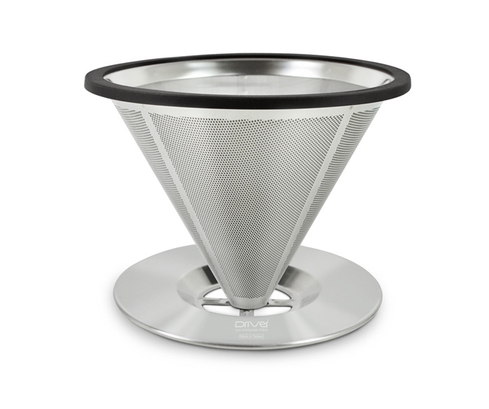 Driver立式不鏽鋼咖啡濾杯1~2cup雙層極細濾網免用濾紙-大廚師百貨