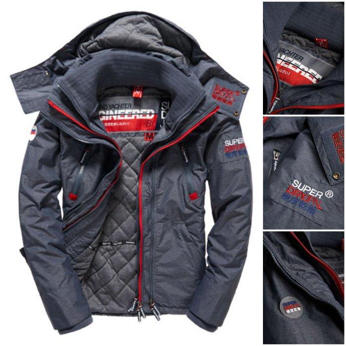 [男款]英國代購 極度乾燥 Superdry Arctic Wind Yachter 男士風衣戶外休閒外套 防水防風 深灰色