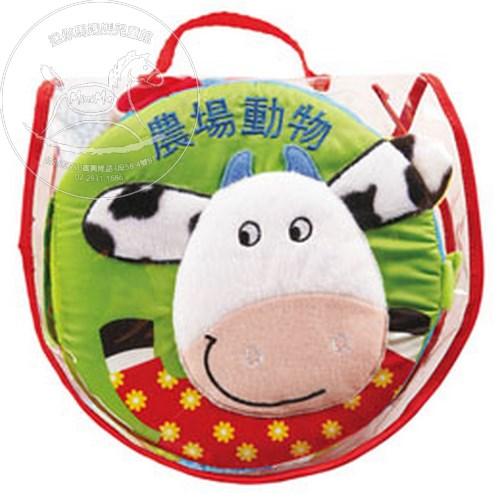 【迷你馬】風車圖書 農場動物-寶寶觸摸認知布書 4714426803577