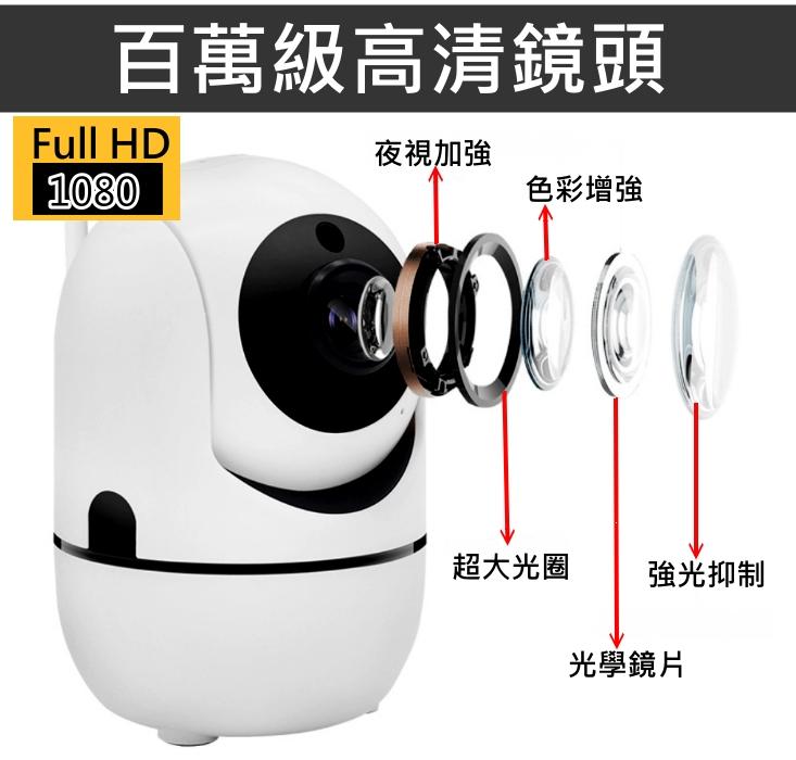 大廣角【1080P自動追蹤守護寶IP04】WIFI智慧監控攝影機