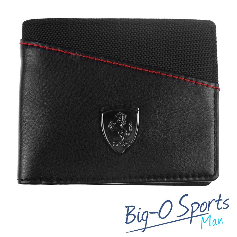 PUMA 彪馬 PUMA FERRARI LS皮夾(N) 07394501 Big-O Sports