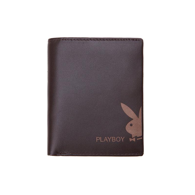 【橘子包舖A11-002】PLAYBOY.男牛皮短夾.兔頭皮夾.錢包.豎款