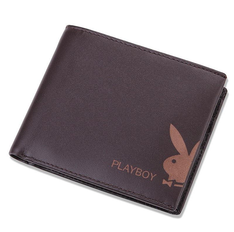 【橘子包舖A11-003】PLAYBOY.男牛皮短夾.兔頭皮夾.錢包