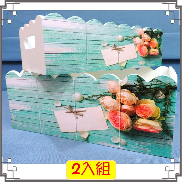 ↙8折↘ 洗白浪型置物盒組《6》粉嫩玫瑰木製收納盒 遙控器盒 桌上型小物收納 花器◤彩虹森林◥