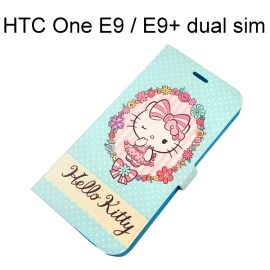 Hello Kitty 彩繪皮套 [花邊] HTC One E9 / E9+ dual sim (E9 Plus)【三麗鷗正版授權】