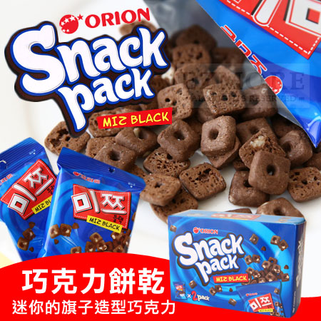韓國 Orion 好麗友 我是黑 巧克力餅乾 84g 巧克力 小麥餅 棋子巧克力餅乾【N101828】