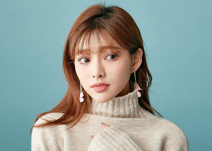 韓國飾品,花瓣耳環,垂墜耳環,螺旋夾耳環,夾式耳環
