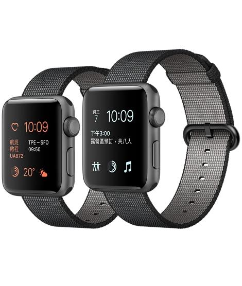 【鐵樂瘋3C 】(展翔) ● Apple Watch 【錶殼42mm、38mm】【Series 2】太空灰色鋁金屬錶殼搭配黑色尼龍織紋錶帶