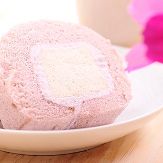[康鼎]頂級法國進口天然鮮奶油製作~芋頭奶凍捲1入