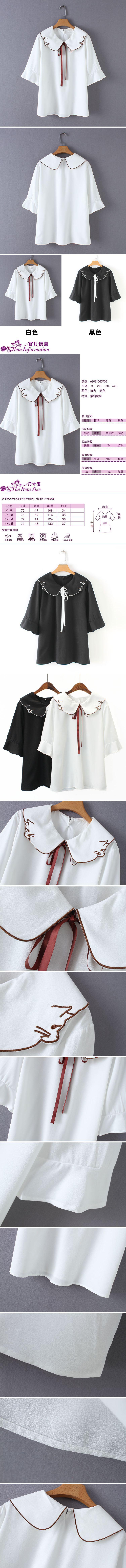 女短袖雪紡衫