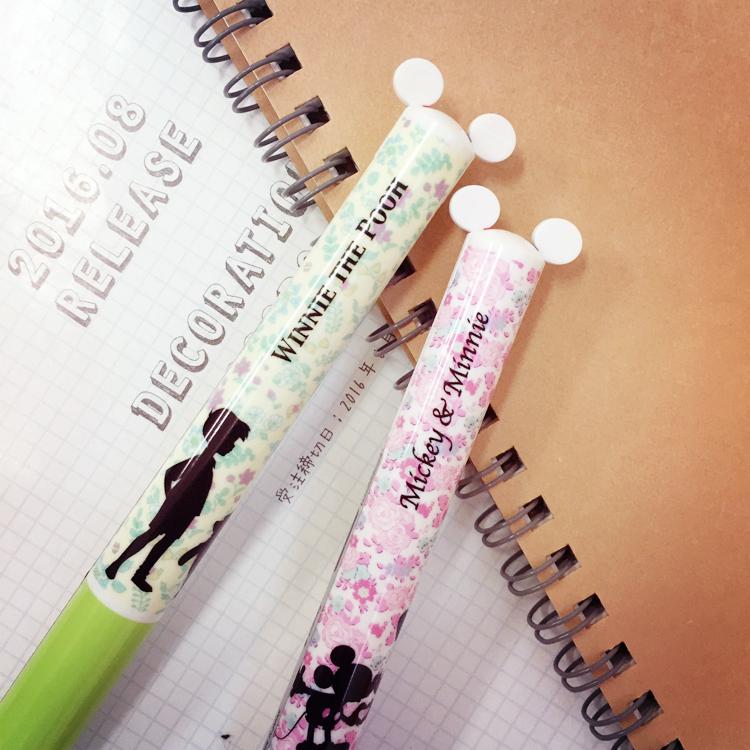 PGS7 日本迪士尼系列商品 - 剪影 造型 雙色原子筆 原子筆 雙色筆 筆 米奇米妮 小熊維尼