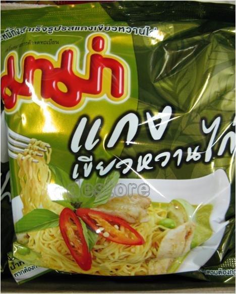 有樂町進口食品 泰國泡麵~雞肉綠咖哩口味泡麵 排名泡麵 TOP10