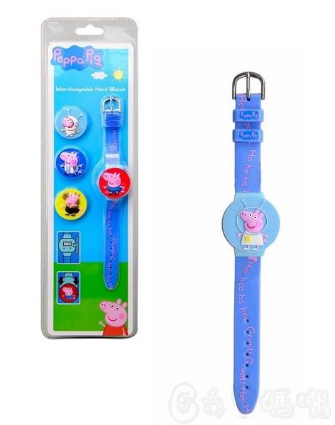 粉紅豬喬治換裝手錶【六甲媽咪】