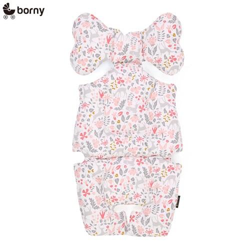韓國【 Borny 】 全身包覆墊(推車、汽座、搖椅適用) (粉小鹿)