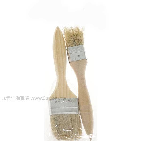 【九元生活百貨】2入油漆刷/1.5吋+1吋 木柄刷