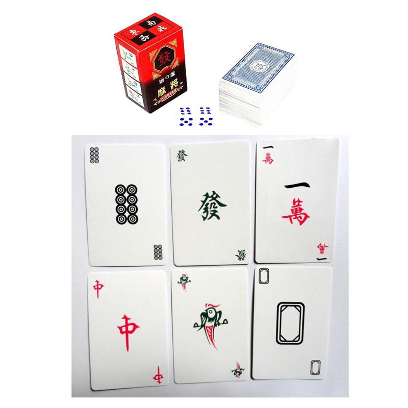 麻將紙牌撲克 紙麻將撲克牌 旅遊麻將 無聲軟麻將 贈送2顆骰子 桌遊 ~斯瑪鋒數位~