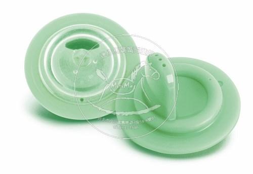 【迷你馬】PHILIPS AVENT QQ兔防漏吸嘴配件(綠色/12m+) E65A240001
