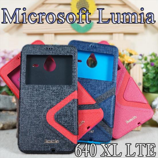 【時尚款 】微軟 Microsoft Lumia 640 XL/RM-1096 LTE 5.7吋愛戀視窗手機皮套/保護套/側掀磁扣保護套/斜立展示支架保護殼