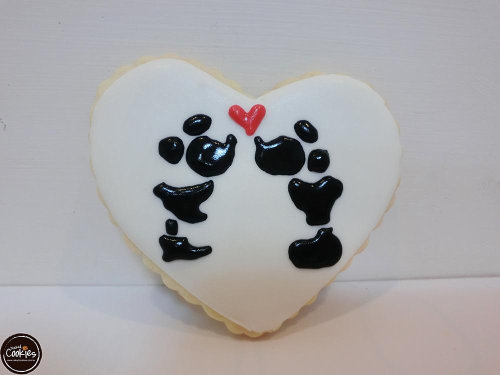 【裸餅乾Naked Cookies】米奇米妮親親款6入-創意手工糖霜餅乾,婚禮/生日/活動/收涎/彌月