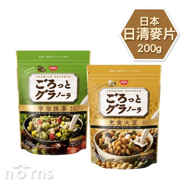 NORNS【日本日清麥片 200g】日清食品 宇治抹茶 大豆 早餐 健康綜合穀片