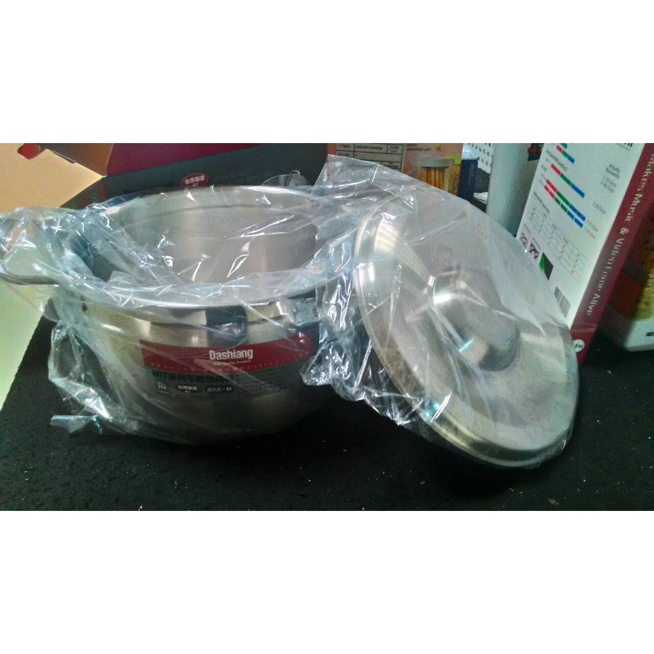 贈品出清 不鏽鋼雙耳湯鍋組 DSB-622S