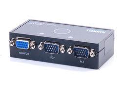 [NOVA成功3C] HANWELL 捍衛科技 SMK12P 2-Port 桌上型 PS/2 KVM 電腦切換器  喔!看呢來