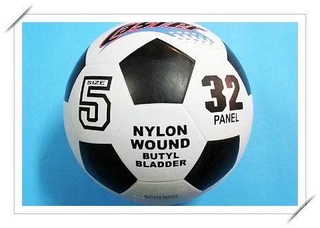 足球 CASTER 5號足球 標準5號足球 成人足球(橡膠五角黑格.黃黑格)/一個入{定220}