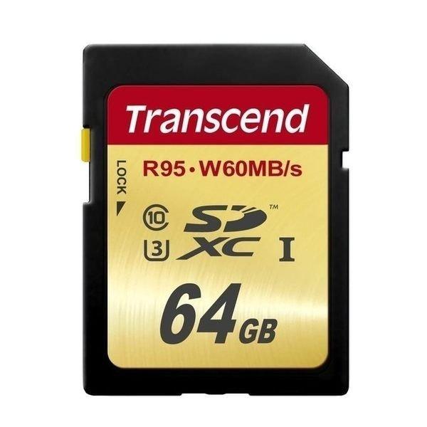 *╯新風尚潮流╭*創見 SDXC記憶卡 64G 64GB UHS-I U3 讀95MB 寫60MB TS64GSDU3