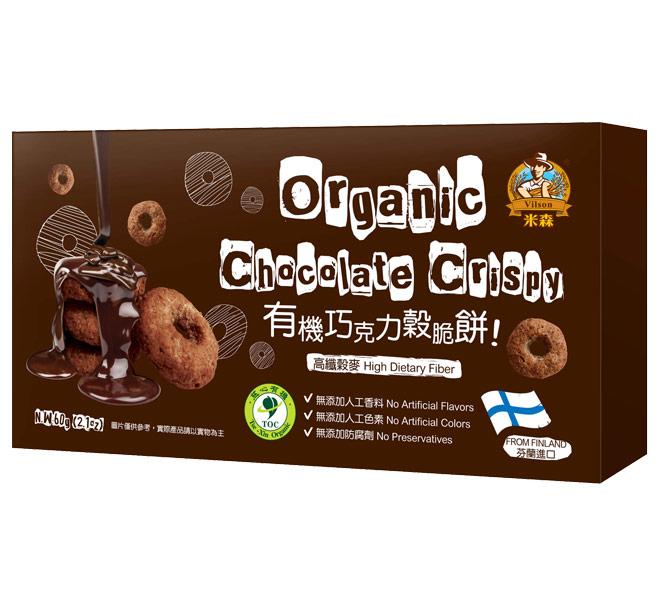 有機巧克力穀脆餅(60g/盒) ◤售價已折◢ $85 原價$100