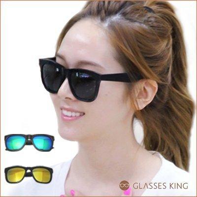 眼鏡王☆現貨韓國復古方框太陽眼鏡墨鏡大框BIGBAN GD同款少女時代明星黑色反光台灣製S-19