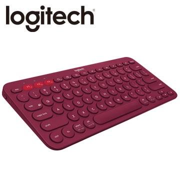 Logitech 羅技 K380 多功能 跨平台藍牙鍵盤 藍芽鍵盤(黑/紅)