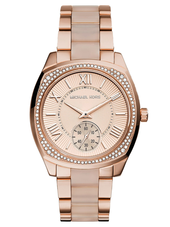 美國Outlet 正品代購 Michael Kors MK 羅馬玫瑰金精鋼 滿鑽 手錶 腕錶 MK6135