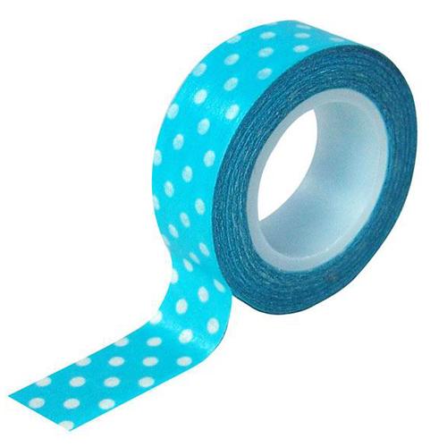 【力大 ABEL 膠帶】12503 藍水玉 和紙膠帶/點點膠帶 (1入)