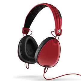 志達電子 S6AVDM-232 紅/黑 美國 Skullcandy Aviator 可換線式 飛行員耳罩式耳機 for iPhone ipod Apple