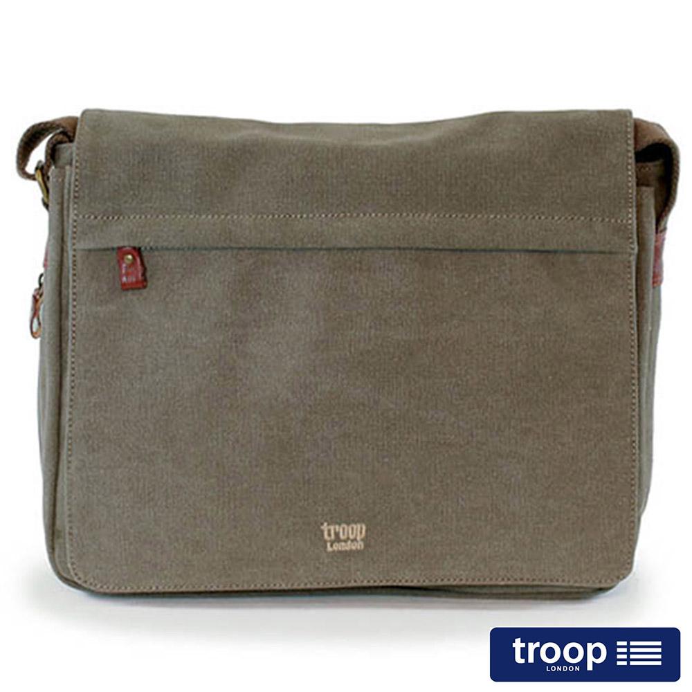 【TROOP】經典品格CLASSIC電腦斜背包/TRP0240BN
